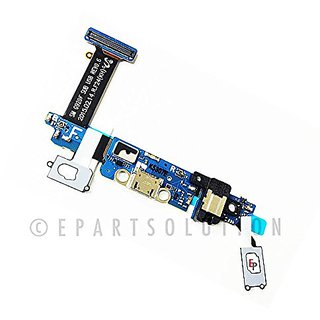 ePartSolution-Samsung Galaxy S6 SM-G920F Charger Charging Port Flex Cable  Dock Connector USB Port With Mic Microphone Flex Cable Replacement Part USA