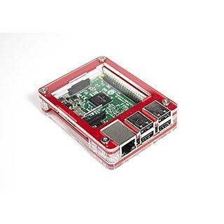 Zebra Case - Raspberry Pi 3, Pi 2, Pi B+ and 2B (Berry Red) with Heatsinks ~ C4Labs