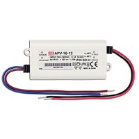 Mean Well USA APV-16-12 Power Supply; AC-DC; 12V@1.25A;