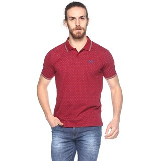 EX10SIVE Mens Cotton Blend RED Polo Tshirt