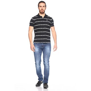 EX10SIVE Men's Cotton Blend BLACK Polo Tshirt