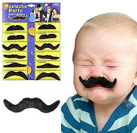 Futaba Party Halloween Fake Moustache - Pack Of 12