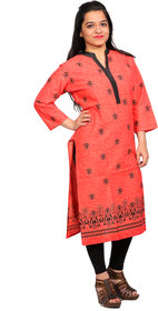 Cotton Kurti Indian Traditional Printed Straight Fashion Kurti/Kurta for Women