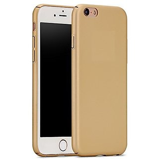 Feomy Ipaky 4 cut All Sides Protection 360 Degree Sleek Rubberised Matte Hard Case Back Cover For Oppo F1S - Gold