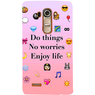 Snapdilla Pink Color Background Do Things No Worries Enjoy Life Lovely  Quote Cool 3D Print Cover For LG G4