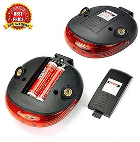 M10339 Genric FactoryDirectPro 5 LED Tail Light with Twin Laser Road Safety Lights for Bikes