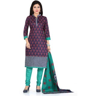 Drapes Womens Multicolor Cotton Printed Dress material (unstitiched) DF1615 (Unstitched)