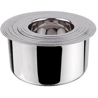 Grish Stainless Steel Round Bottom Patila - Set Of 5