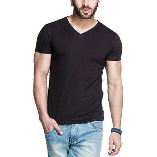 Men's V-Neck Tshirt Black