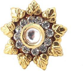 Biyu Latest Design Cubic Zirconia Gold Plated Adjustable Finger Ring