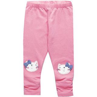 Meia for Girls Pink Cute Cat Printed Legging