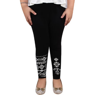 Meia for Girls Black Arrow Printed Legging