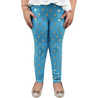 Meia for Girls Sky Blue Circle Printed Legging