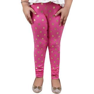 Meia for Girls Pink Circle Printed Legging