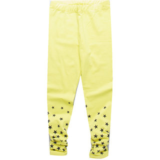 Meia for Girls Yellow Star Printed Legging