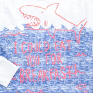 Lazy Shark Boys Animal Printed T-Shirts