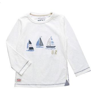 Lazy Shark Boys Applique printed T-Shirts