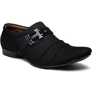 GurSmith Mens Black Slip On Casual Shoes GS118