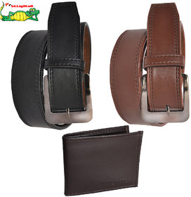 Elligator 2 Belt With Wallet Combo For Men