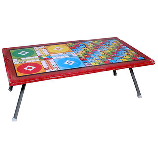 Masterfit Multicolour Folding Study cum Ludo Table