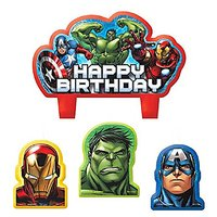 Party Time Avengers Molded Mini Character Birthday Cand