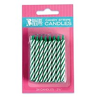 Oasis Supply Candy Stripe Birthday Candles, 2.5-Inch, G