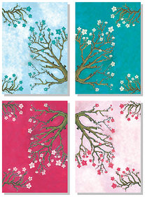 4 Pieces Floral Canvas Painting  No reviews