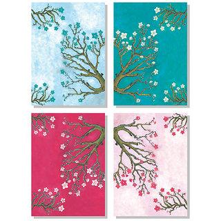 4 Pieces Floral Canvas Painting  No reviews