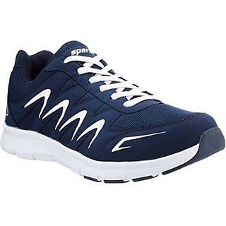 Sparx Men's Navy, Blue and White Running Shoes