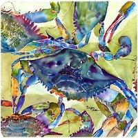 Caroline's Treasures 8512FC Crab Foam Coasters (Set of 4), 3.5