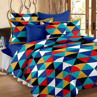 Cotton Yellow 1 Double Bedsheet With 2 Pillow Cover