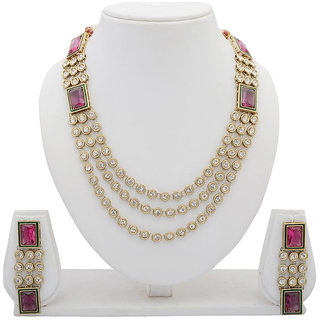 Arsya Jewellery  Rhodolite Swavorski Necklace AOSN3