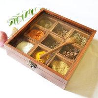 Spice Box - Sheesham wood Spice Box Container - Spice Box Holder