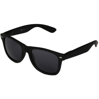 Meia Black UV Protection Wayfarer Unisex Sunglasses