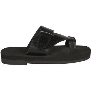 Panlin Gents Leather  MCP / MCR Orthopedic Diabetic Footwear Slippers G12-BL