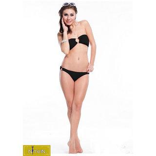 Nitein Polyester & Spandex Black Swimwear
