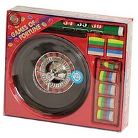 Roulette Casino Game Set Equipment with Chips & Playing Mat