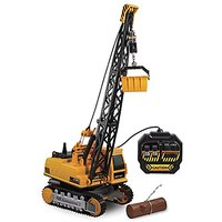 Kid Galaxy Remote Control Crane. 8-Function Construction Toy Vehicle