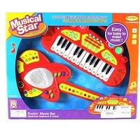 Lil Rockin' Musical Star Toy Guitar & Keyboard Instrume