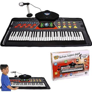 Kids Piano Electronic Keyboard Playmat - 61 Keys + 36 Function Modes Electronic Keyboard Playmat With Mike and Stand