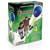 Stomp Rocket 20082 Ultra 4-Rocket Kit, Blue And Green