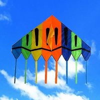 Giant Delta Kite 6 X 8 Ft Easy Flyer With String And Ha
