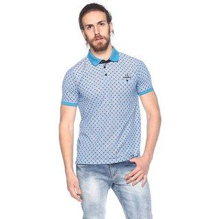 EX10SIVE Men's Cotton Blend SKY Polo Tshirt