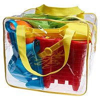 Beach Toy Set In Reusable Zippered Bag With Mesh Bag Fo
