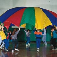 Dazzling Toys 10 Feet Parachute Multi-color Design And
