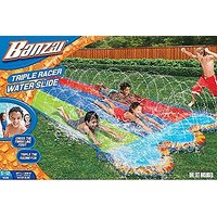 Banzai 16 Ft. Triple Racer Water Slide With Giant Water