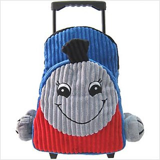 95d105420d Buy Kids Blue Rolling Backpack With Train Stuffie -Affordable Gift for your  Little One! Item  DKKI-8068 Online   ₹6823 from ShopClues