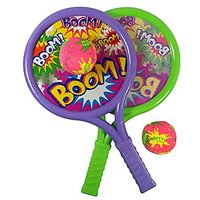 Boom Drum Racket Sports Set For Kids With 2 Rackets And