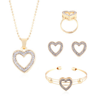 Buy fasherati rose gold plated heart shaped pendant set with ring fasherati rose gold plated heart shaped pendant set with ring and bracelet aloadofball Gallery