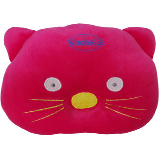 Wonderkids Cat Shape Baby Pillow 0 To 12 Months Pink